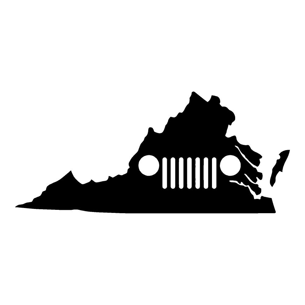 Virginia Jeep Jeep Stickers Car Decals Wall Decals