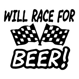 Will Race For Beer Funny Stickers