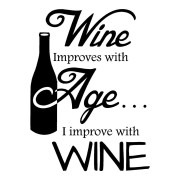 Wine Improves Wall Decal