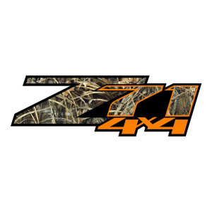 Z71 Orange Grass Camo Stickers Chevy Decals Chevrolet