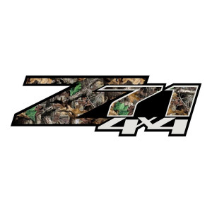 Z71 Grey Green Leaf Camo Stickers Chevy Decals Chevrolet