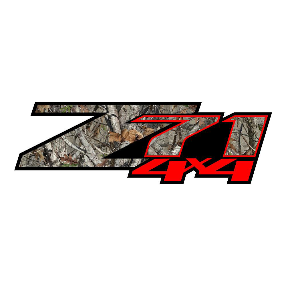 Z71 Red Hardwood Camo Stickers Chevy Decals Chevrolet