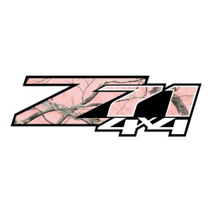 Z71 Pink Camo Stickers Chevy Stickers Truck Decals