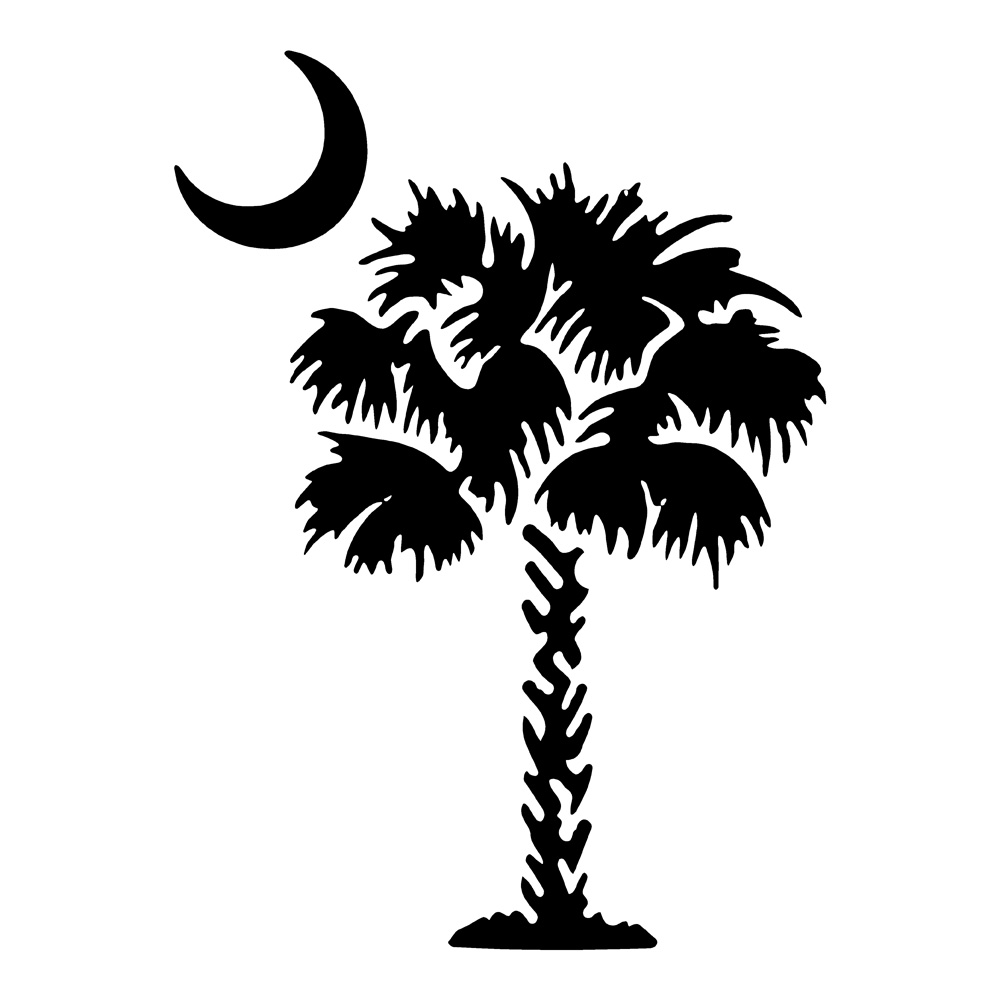 Palm Tree with Moon Waterproof Stickers